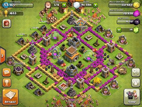 Best town hall level 8 defense strategy and setup for clash of clans
