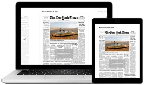 new york times brings print edition to tablets and