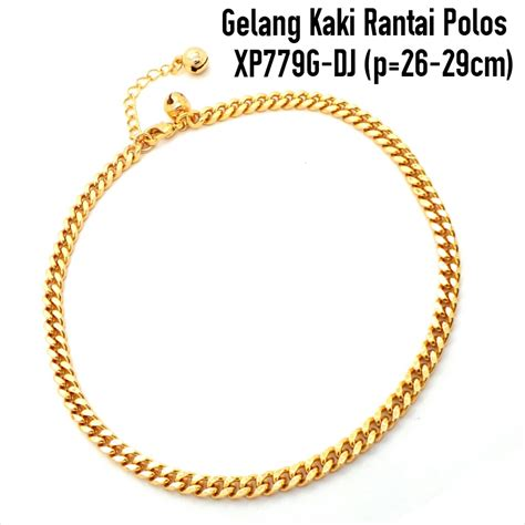 Xuping Yaxiya Gelang Dewasa G190 gambar jual gelang kaki xuping gold rantai polos lapak dinar aksesoris di rebanas rebanas