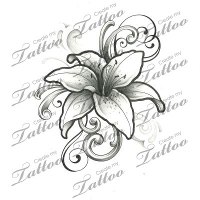 lily swirl tattoo designs and swirls tattoos tattoos designs