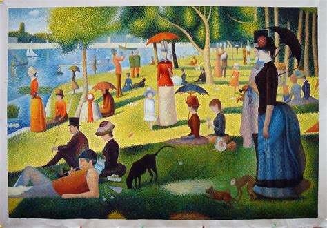 georges seurat most famous paintings a cartoon masterpiece hi lois