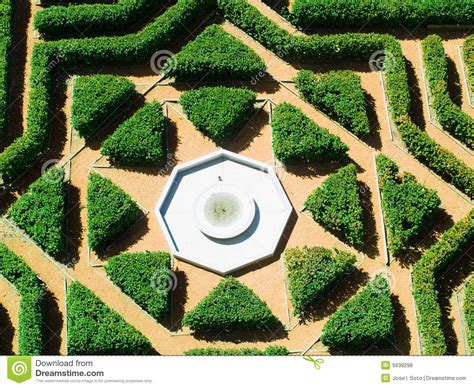 Landscape Shaped Pictures Geometrical Garden Royalty Free Stock Photos Image 5639298
