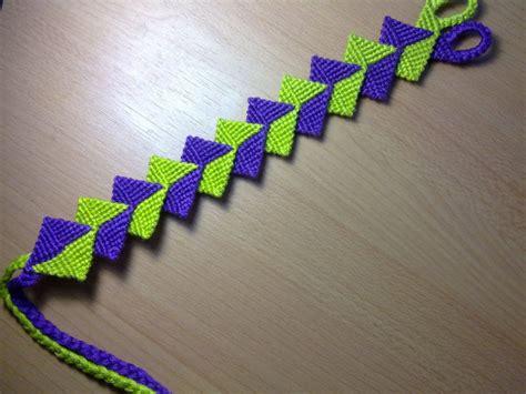 zig zag pattern friendship bracelet instructions friendship bracelet intertwined zig zag macrame bracelet
