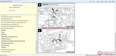 mitsubishi pajero  service manual auto repair manual
