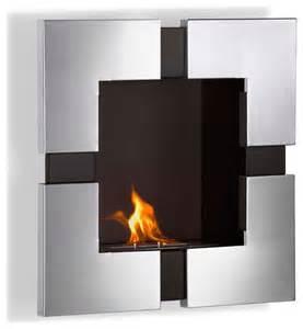 elm wall mounted ethanol fireplace modern indoor