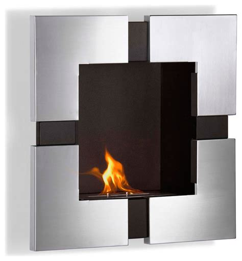 elm wall mounted ethanol fireplace modern indoor