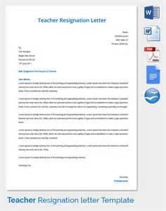 teacher letter of resignation template resignation letter template 25 free word pdf documents 11 teacher resignation letter templates free sample