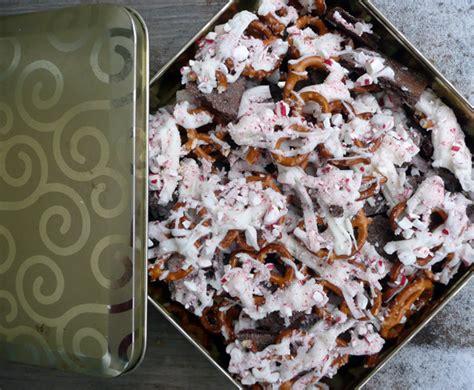 Munch On A Pretzel by 187 Chocolate Peppermint Pretzel Munch Mix Sumptuous Spoonfuls