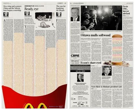 design ideas newspaper 20 creative and smart mcdonald s advertisement designs