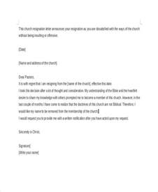 Resignation Letter To Church by Church Resignation Letter Template 9 Free Word Pdf Document Free Premium Templates