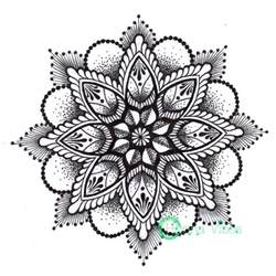 dotwork mandala by mish at henna vibes tattoos pinterest the shape mandalas and flower