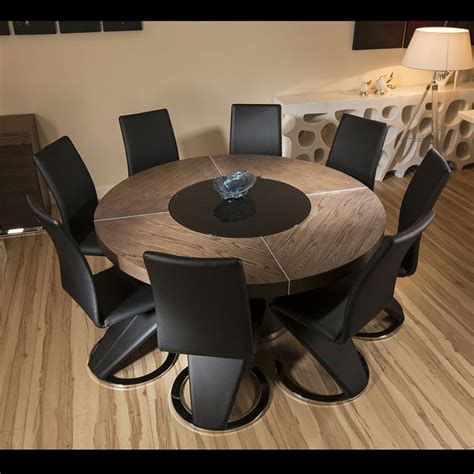 Leather Chairs For Dining Table Large Elm Wood Dining Table 8 High Black Faux Leather Chairs Quatropi