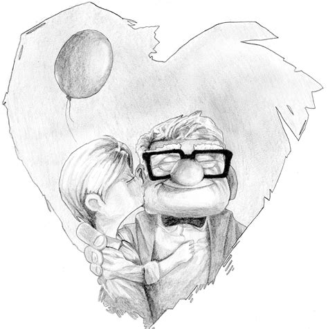 Sketches Up by Carl And Ellie Up Pixar Studios By Kegira On Deviantart