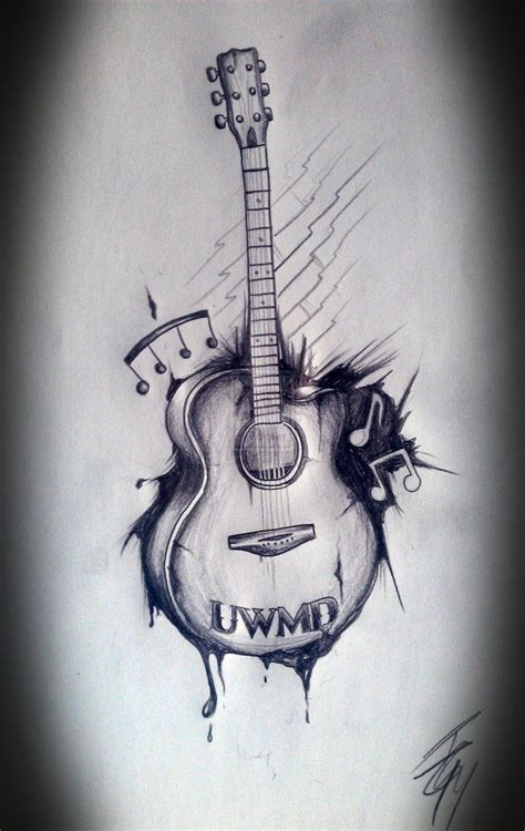 musical guitar tattoo art music pinterest guitar