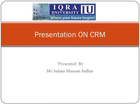 Crm Notes For Mba Students by Ppt Customers Relationship Management Crm
