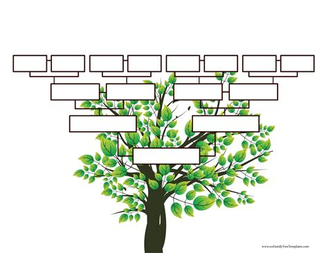 Blank Family Tree Template For by Blank Family Tree Template Free Instant