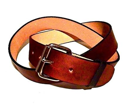 Custom Handmade Leather Belts - buy a made brown leather belt handmade brown