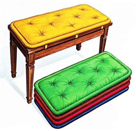 how to cushion a bench how to make a piano bench cushion we bring ideas