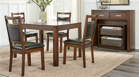 cherry finish classic 5pc dining room set w optional items sutter place brown cherry 5 pc dining set dining room