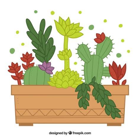 vaso di fiori disegno disegno vaso di fiori cactus scaricare vettori premium