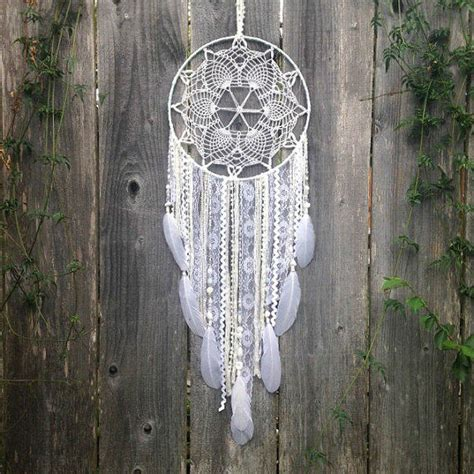 Handmade Catcher - white doily dreamcatcher handmade from inspiredsoulshop on