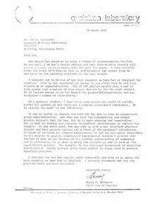 Letter Of Recommendation From Research Supervisor News Articles And Other Material Relating To Bob Koontz