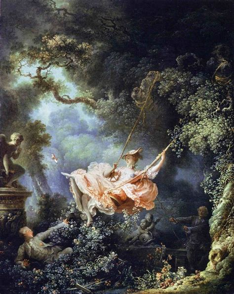 fragonard the swing 1766 french rococo art art history tour