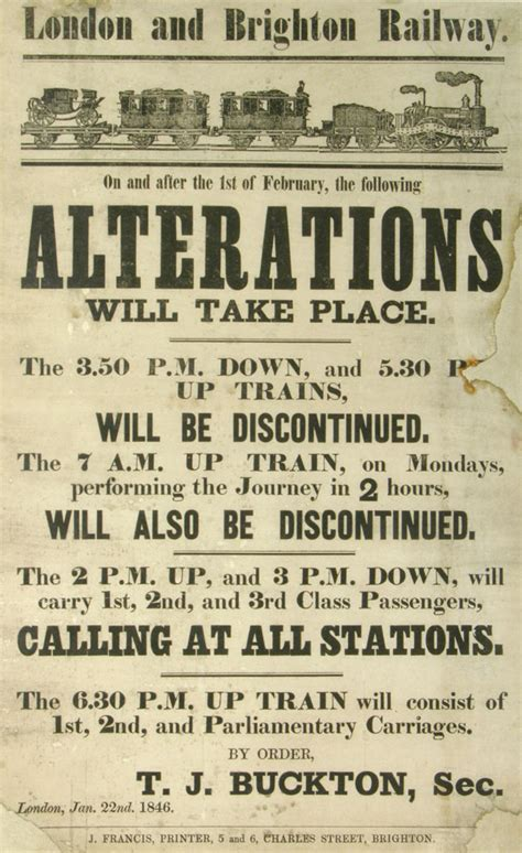 poster design jobs london london to brighton train alterations 1846