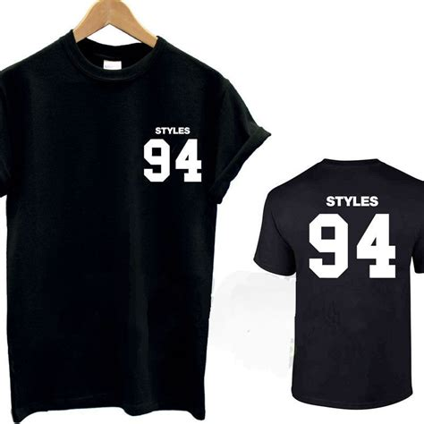 Hoodie One Derection 4 harry styles 94 t shirt top tshirt one direction 1d tour fan d o b mens cotton summer