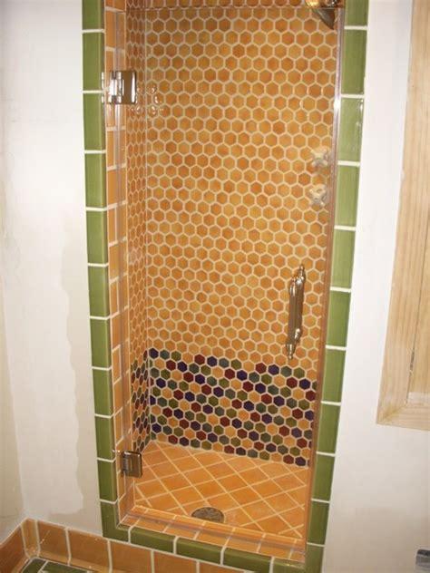 Single Glass Shower Door Single Frameless Shower Door Mediterranean Bathroom Los Angeles By Algami Glass Doors