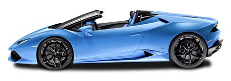 Blue Lamborghini Huracan Lp 610 4 Spyder Side View Car Png