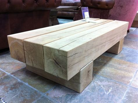 Sleeper Table by Classic Coffee Table From New Oak Railway
