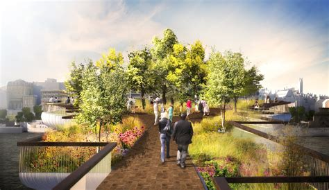 garden   thames  green bridge  olympic