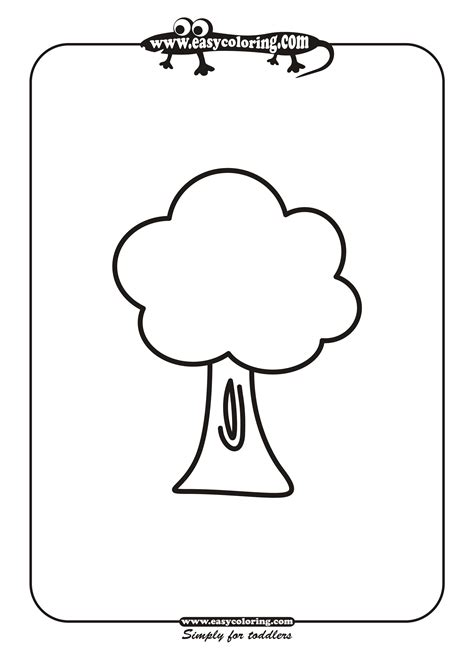 Simple Large Tree Root Coloring Coloring Pages Simple Tree Coloring Pages