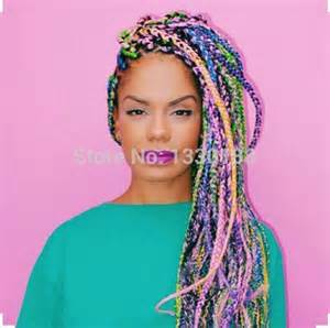 multi colored box braids multi colored box braids 100grams 24 quot ombre rainbow high