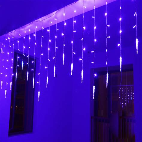 4m 100smd 18 icicle curtain lights christmas led icicle