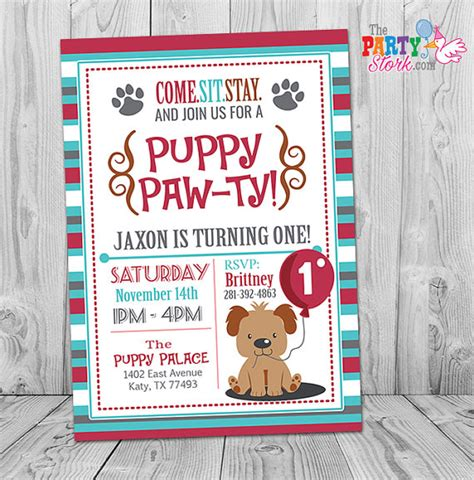 puppy birthday invitations puppy invitation boy puppy birthday invitation printable puppy invites puppy