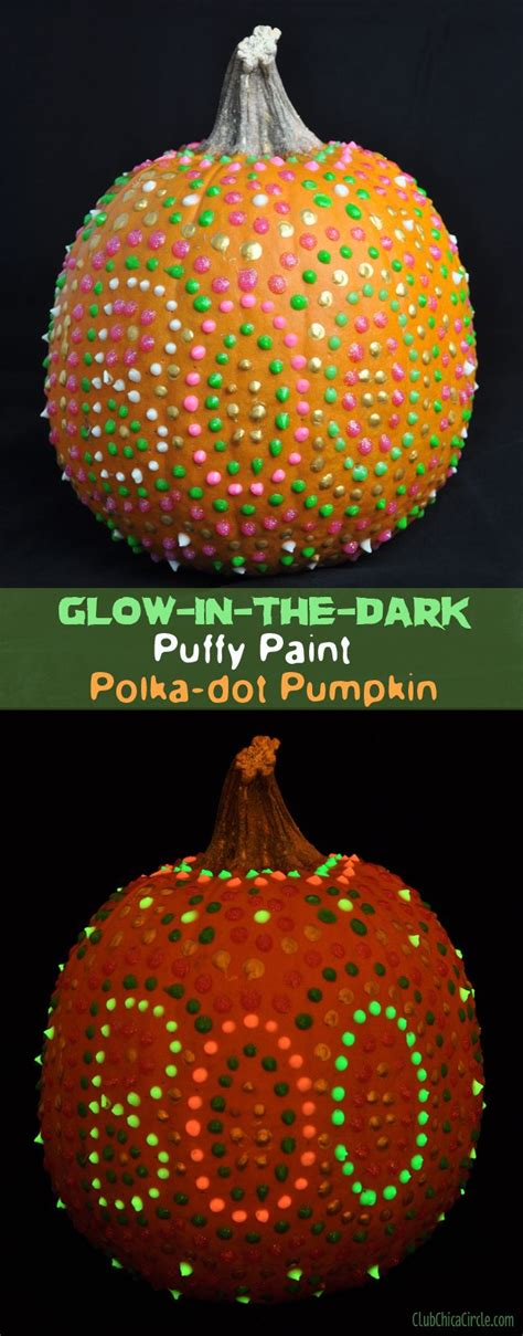 glow in the paint pumpkins glow in the paint pumpkin with polkadots