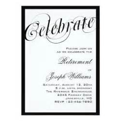 retirement luncheon invitation template black white retirement invitations zazzle