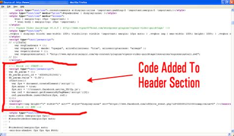where is the head section of my website how to insert code into wordpress posts and pages
