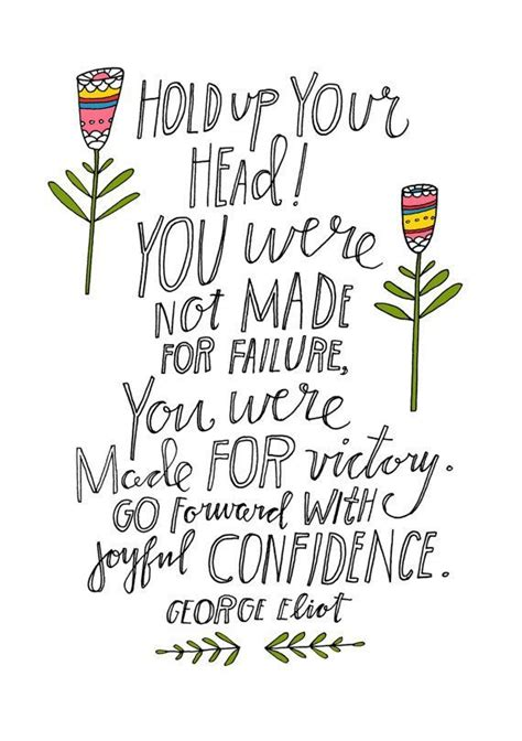 Picture George Eliot Quote About - george eliot quote you were not made for failure