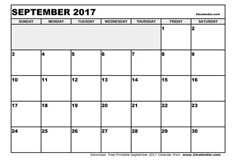 printable monthly calendar september 2017 blank september 2017 calendar in printable format