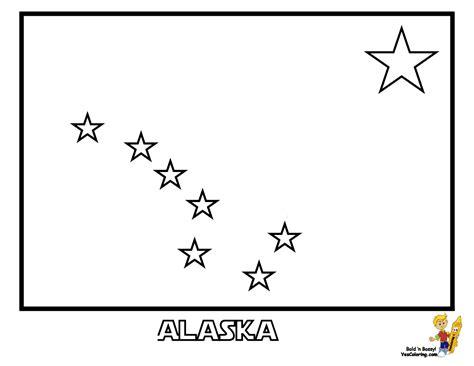 Alaska Flag Coloring Page Patriotic State Flag Coloring Pages Alabama Hawaii