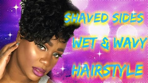 bobs using wet and wavy hair wet wavy hair with short hair and shaved sides pt2 youtube