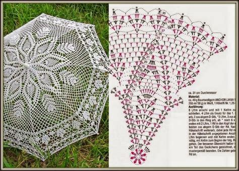 pattern crochet umbrella 17 best images about crochet doily and umbrellas on