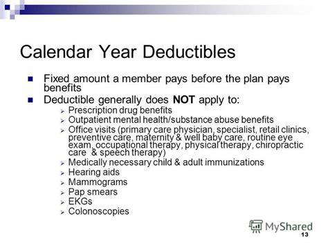Calendar Year Deductible презентация на тему Quot City Of Peabody Health Plan