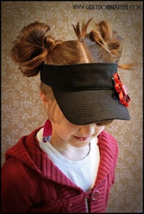 cute hairstyles work visor i m thinking softball hair girly dos by jenn visor hat