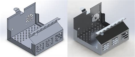 Sheet Metal Cover by Solidworks Sheetmetal Sle Works Mech Eng