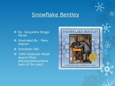 snowflake bentley book caldecott illustration analysis snowflake bentley