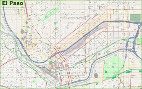 city map of el paso texas large detailed map of el paso